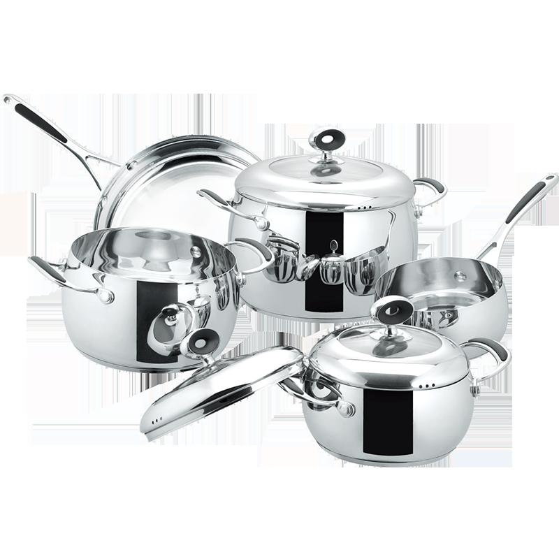 Stainless Steel 8-Piece Cookware Set, Apple shape cookwar set