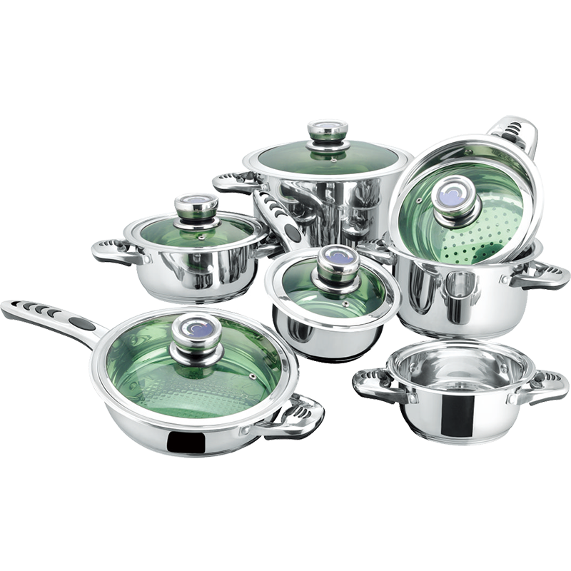 Stainless Steel 12-Piece Cookware Set