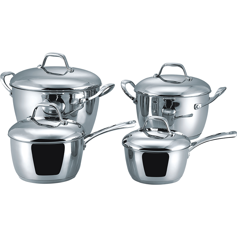 Stainless Steel 8-Piece Cookware Set