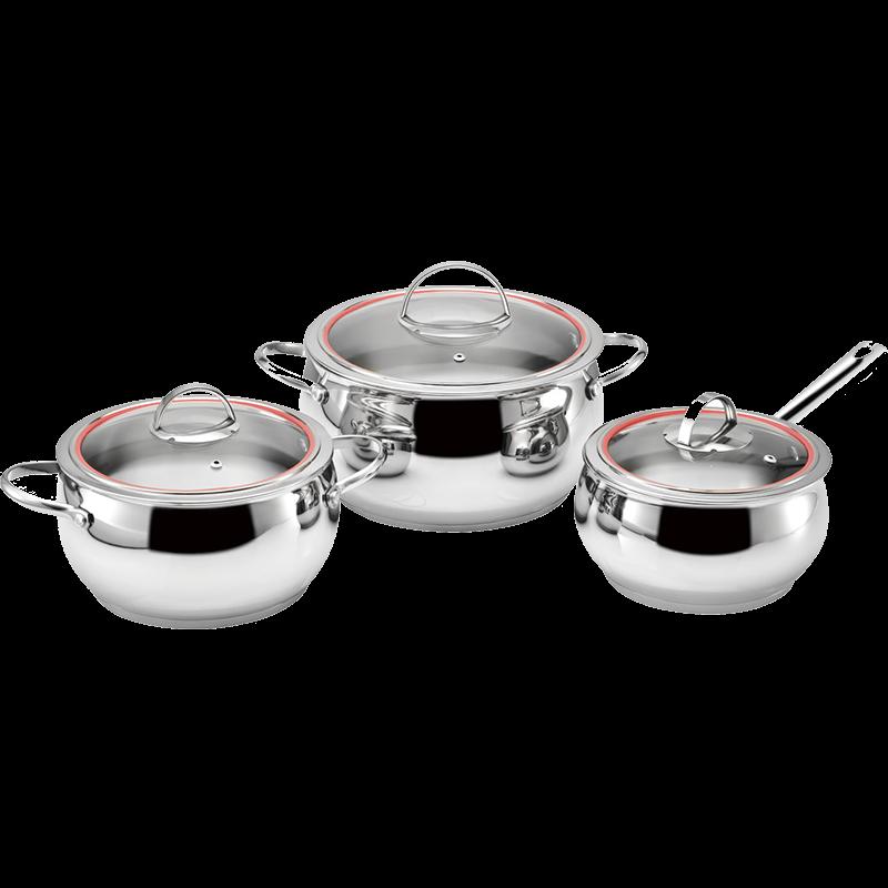 Stainless Steel 6-Piece Cookware Set, Apple shape cookwar set