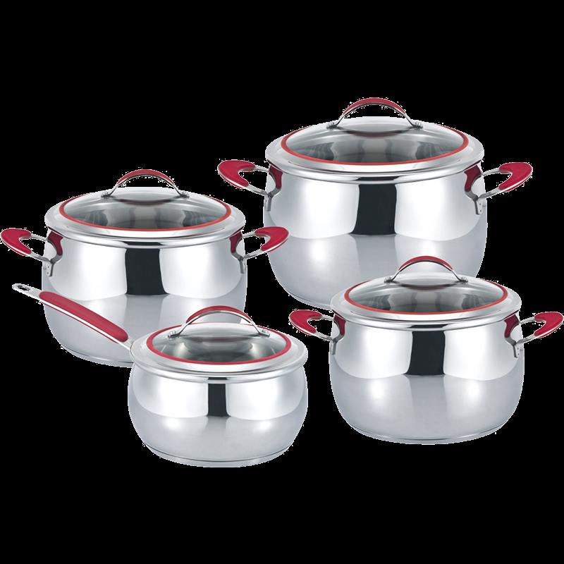 Stainless Steel 7-Piece Cookware Set, Apple shape cookwar set
