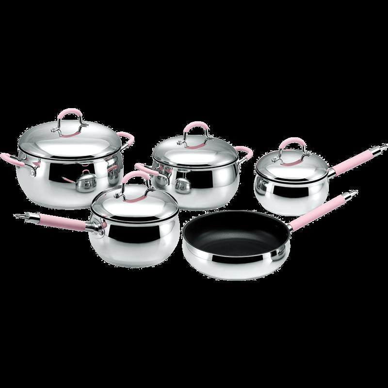 Stainless Steel 9-Piece Cookware Set, Apple shape cookwar set