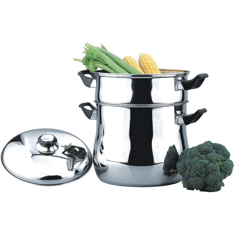 Steamer Set with Lid for Stovetop Use, Stainless Steel
