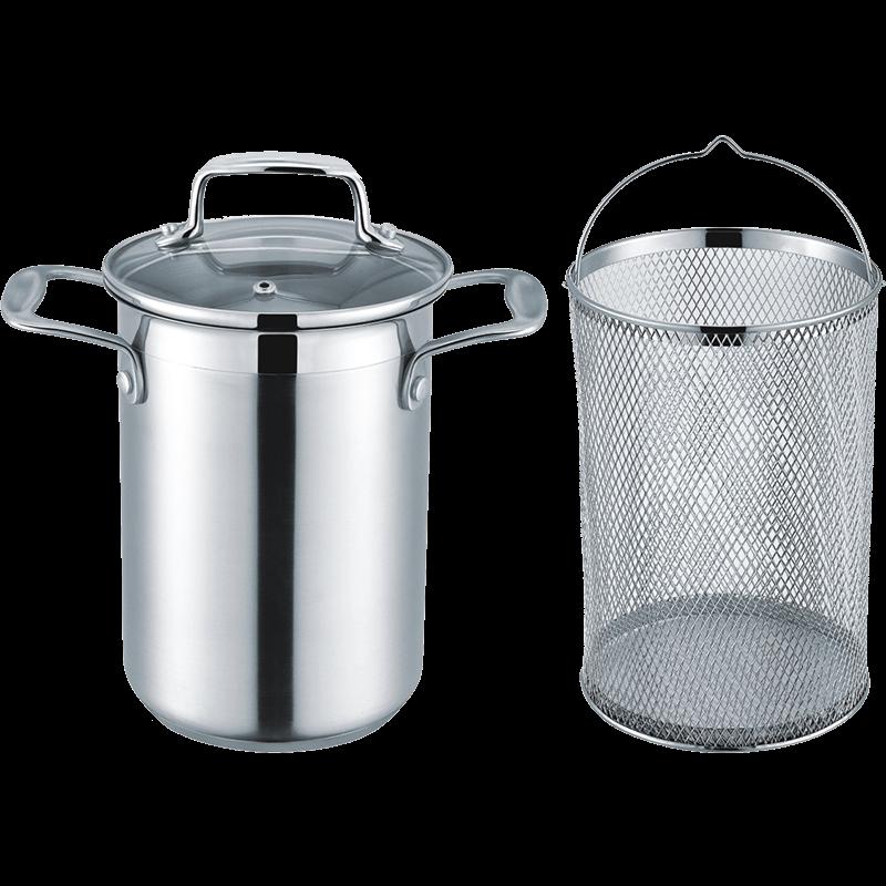 Stainless Steel Dishwasher Safe Asparagus Pot with Steamer Basket Cookwar