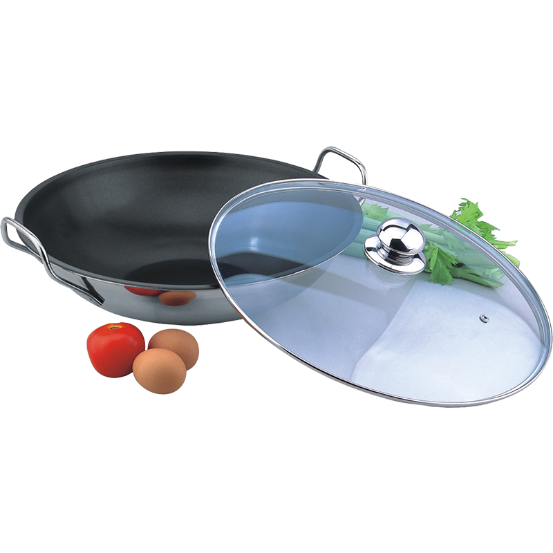 14-Inch Non-stick Wok Stir Fry Pan with Cover