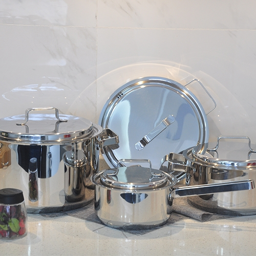 SS Cookware with SS lid